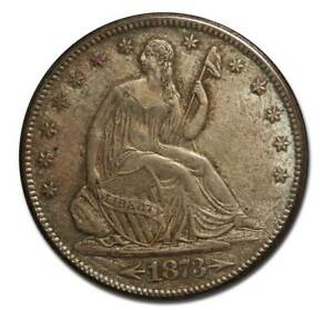 1873S SEATED SILVER LIBERTY HALF DOLLAR 50 COIN LOT MZ 4599