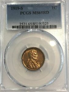 Click now to see the BUY IT NOW Price! 1919 S LINCOLN WHEAT CENT 1C PCGS CERTIFIED MS 65 RD