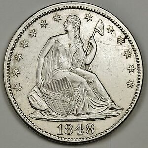 1848 SEATED LIBERTY HALF.   A.U.  111996