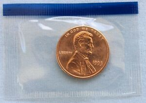 1993 LINCOLN CENT UNCIRCULATED IN ORIGINAL MINT CELLO  5025