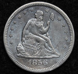 1856 O SEATED LIBERTY QUARTER 25 CENTS KEY DATE 968 000 MINTED NICE  5218