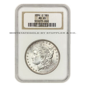 Click now to see the BUY IT NOW Price! 1894 O $1 SILVER MORGAN DOLLAR NGC MS65  NEW ORLEANS GEM CERTIFIED COIN