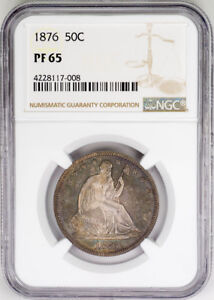 Click now to see the BUY IT NOW Price! 1876 50C PROOF SEATED LIBERTY HALF DOLLAR   NGC PR65   US  COIN