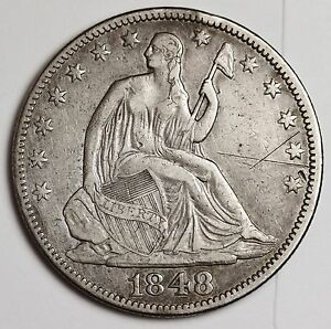 1848 SEATED LIBERTY HALF.  X.F.  111772
