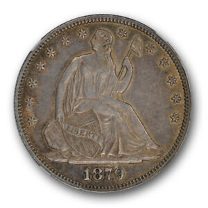 1879 SEATED LIBERTY HALF DOLLAR NGC AU 55 ABOUT UNCIRCULATED KEY DATE COIN