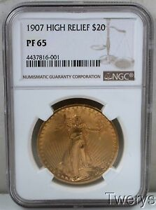Click now to see the BUY IT NOW Price! 1907 PROOF HIGH RELIEF $20 SAINT GAUDENS DOUBLE EAGLE NGC PF 65