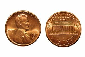 1959 D/D  LINCOLN CENT   CONECA RPM 008 8 GEM BU RED  146