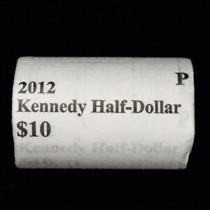 2012 P KENNEDY HALF DOLLAR 50C ORIGINAL PAPER WRAPPED ROLL FROM US MINT 20 COINS