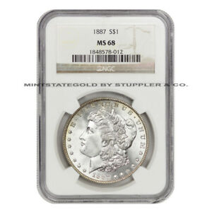 Click now to see the BUY IT NOW Price! ONE OF THE FINEST 1887 $1 MORGAN NGC MS68 GEM GRADED PHILADELPHIA SILVER DOLLAR