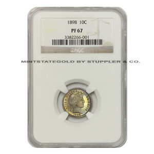 Click now to see the BUY IT NOW Price! 1898 10C BARBER DIME NGC PF67 PROOF SILVER TEN CENT COIN ONLY 6 GRADED HIGHER