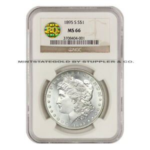 Click now to see the BUY IT NOW Price!  1895 S $1 MORGAN NGC MS66 PQ GEM GRADED SAN FRANCISCO SILVER DOLLAR