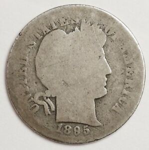 1895 O BARBER DIME.  CIRCULATED.  120182