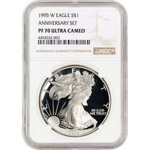 Click now to see the BUY IT NOW Price! 1995 W AMERICAN SILVER EAGLE PROOF   NGC PF70 UCAM