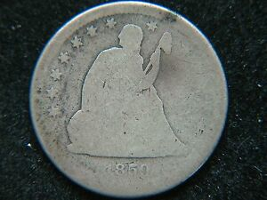 1859 S 25C LIBERTY SEATED QUARTER  KEY DATE
