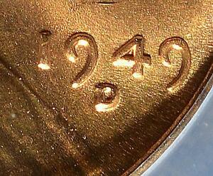 1949 D/D ANACS MS66 RD LINCOLN CENT RPM ERROR  COPPER WHEAT PENNY SHIPS FREE