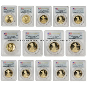 Click now to see the BUY IT NOW Price! COMPLETE SET OF 1OZ GOLD EAGLES 1986 W TO 2017 W PCGS PROOF 70 W/ FIRST STRIKE
