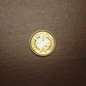 1852 GOLD $1 LIBERTY HEAD COIN TYPE I   PRE CIVIL WAR DATE