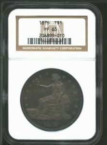 Click now to see the BUY IT NOW Price!  1876 USA PROOF TRADE DOLLAR NGC PR 63