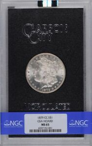 Click now to see the BUY IT NOW Price! 1879 CC $1 MORGAN SILVER DOLLAR GSA HOARD MS65 NGC