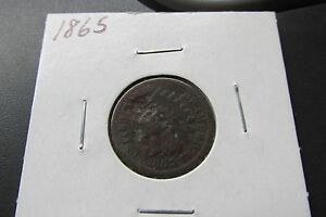 1865 INDIAN HEAD CENT PENNY    VINTAGE US ANTIQUE COIN    C99