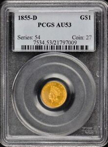 Click now to see the BUY IT NOW Price! 1855 D G$1 GOLD DOLLAR PCGS AU53