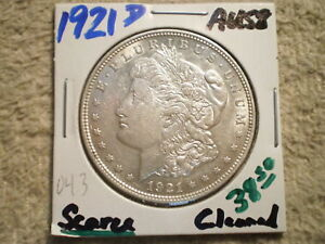 1921 D MORGAN SILVER DOLLAR/ NICE DEAL/ CLEANING