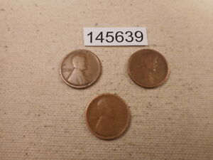 EARLY LINCOLN WHEAT CENT LOT   1918 D 1917 S 1916 D COLLECTOR COINS    145639