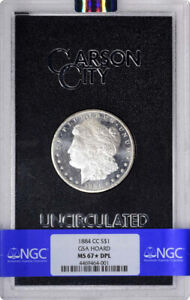 Click now to see the BUY IT NOW Price! 1884 CC $1 MORGAN DOLLAR GSA HOARD NGC MS67 DMPL STAR