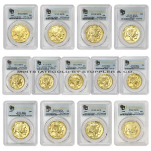 Click now to see the BUY IT NOW Price! SET OF 13 2006 2018 $50 GOLD BUFFALOS PCGS MS70 FIRST STRIKE BUFFALO FS BUSINESS