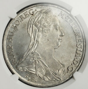 Click now to see the BUY IT NOW Price! 1780 AUSTRIAN STATES BURGAU MARIA THERESA. SILVER THALER COIN. NGC MS 62