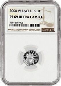2000 W $10 PROOF PLATINUM AMERICAN EAGLE NGC PF69 ULTRA CAMEO