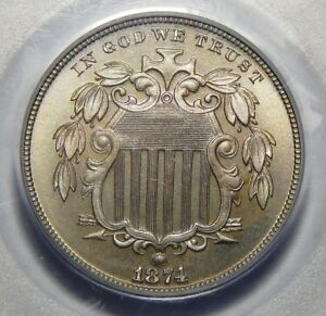 Click now to see the BUY IT NOW Price! 1874 PCGS PR67 SHIELD NICKEL