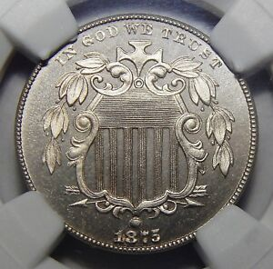 Click now to see the BUY IT NOW Price! 1875 NGC PF66 CAMEO SHIELD NICKEL
