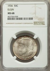 Click now to see the BUY IT NOW Price! 1936 US SILVER 50C ELGIN ILLINOIS CENTENNIAL HALF DOLLAR   NGC MS68