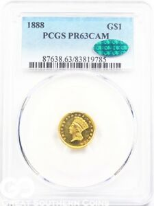 Click now to see the BUY IT NOW Price! 1888 GOLD DOLLAR CAMEO PROOF $1 INDIAN PRINCESS PCGS PR 63 CAM    CAC CERT