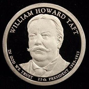 2013 S PRESIDENTIAL DOLLAR WILLIAM HOWARD TAFT UNCIRCULATED PROOF $1