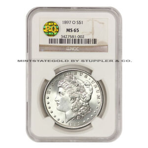 Click now to see the BUY IT NOW Price! VERY  1897 O $1 MORGAN NGC MS65 PQ APPROVED SILVER DOLLAR GEM GRADED COIN