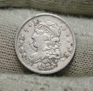 1835 CAPPED BUST HALF DIME H10C 5 CENTS   NICE OLD COIN    6151