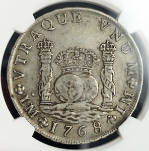 Click now to see the BUY IT NOW Price! 1768 PERU CHARLES III OF SPAIN. SILVER 8 REALES PILLAR DOLLAR COIN. NGC XF 45