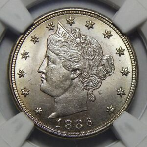 Click now to see the BUY IT NOW Price! 1886 NGC/CAC MS65 LIBERTY NICKEL