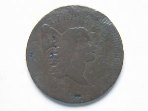 1795 1/2C PLAIN EDGE NO POLE BN LIBERTY CAP HALF CENT CHOCOLATE BROWN SURVIVOR