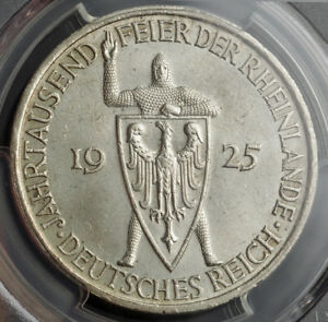 Click now to see the BUY IT NOW Price! 1925 A GERMANY WEIMAR . SILVER 5 MARK COIN. GERMAN RHINELAND ANNIV. PCGS MS 63