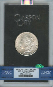 Click now to see the BUY IT NOW Price! 1879 CC TOP 100 MORGAN DOLLAR VAM 3 GSA HOARD S$1 NGC MS63   CAC
