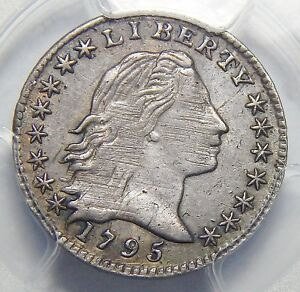 1795 PCGS XF45 LM 8 FLOWING HAIR HALF DIME