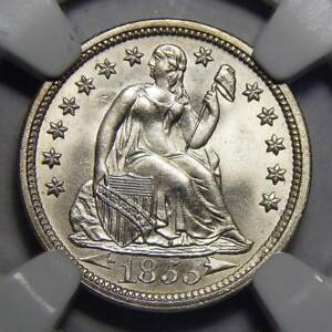 Click now to see the BUY IT NOW Price! 1855 NGC MS67 ARROWS SEATED LIBERTY DIME