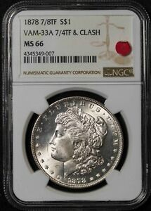 Click now to see the BUY IT NOW Price! 1878 7/8TF NGC MS66 VAM 33 7/4TF & CLASH MORGAN SILVER DOLLAR ITEMJ2449