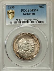 Click now to see the BUY IT NOW Price! 1936 US SILVER 50C BATTLE OF GETTYSBURG HALF DOLLAR   PCGS MS67