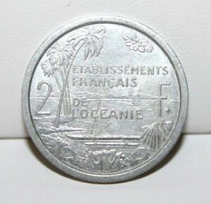 1949 FRENCH OCEANIA 2 TWO FRANCS KM 3