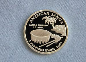 2009 S AMERICAN SAMOA SILVER PROOF US TERRITORIES ULTRA DEEP CAMEO