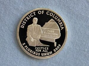 2009 S DISTRICT OF COLUMBIA SILVER PROOF US TERRITORIES ULTRA DEEP CAMEO